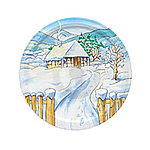 Gläserdeckel 82mm Wintermotiv Haus Twist-off